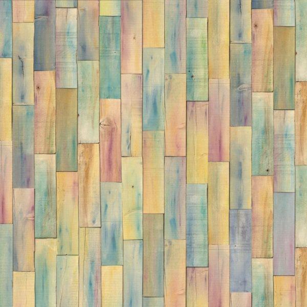 Fotobehang gekleurd hout