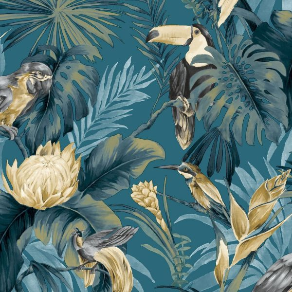 Behang tropische vogels